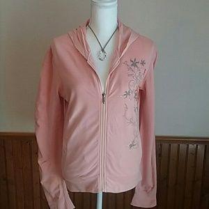 Pink Abercrombie Zip Up Hoodie sz Medium